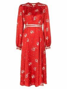 byTiMo Floral print midi dress - Red