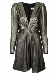 Saint Laurent V-neck metallic dress - Gold