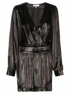 FRAME long-sleeve fitted mini dress - Black