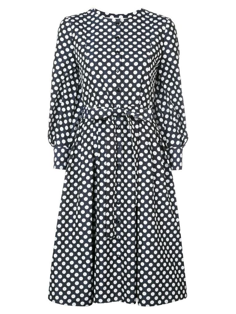 Carolina Herrera polka-dot flared midi dress - Blue
