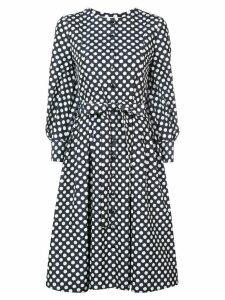 Carolina Herrera polka-dot flared midi dress - Blue