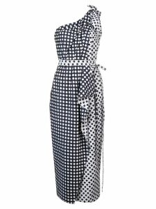 Carolina Herrera polka-dot asymmetric dress - Blue