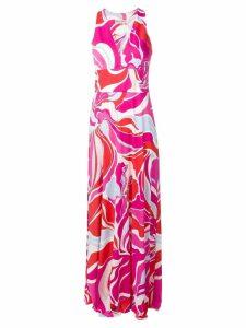 Emilio Pucci Rivera Print Sleeveless Maxi Dress - Red