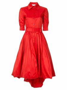 Oscar de la Renta bubble hem dress - Red