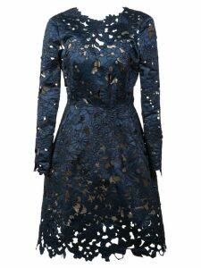 Oscar de la Renta floral lace cocktail dress - Blue