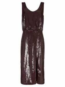 Johanna Ortiz Tarantella sequinned backless dress - Red