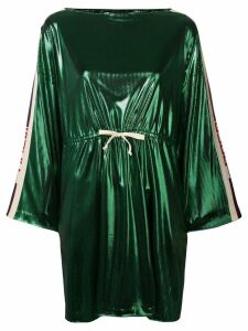 Gucci side panelled short dress - Green