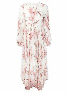 Zimmermann pleated twist front dress - White