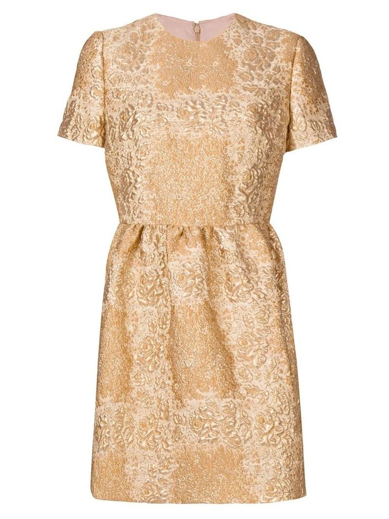 Valentino metallic floral mini dress - Gold