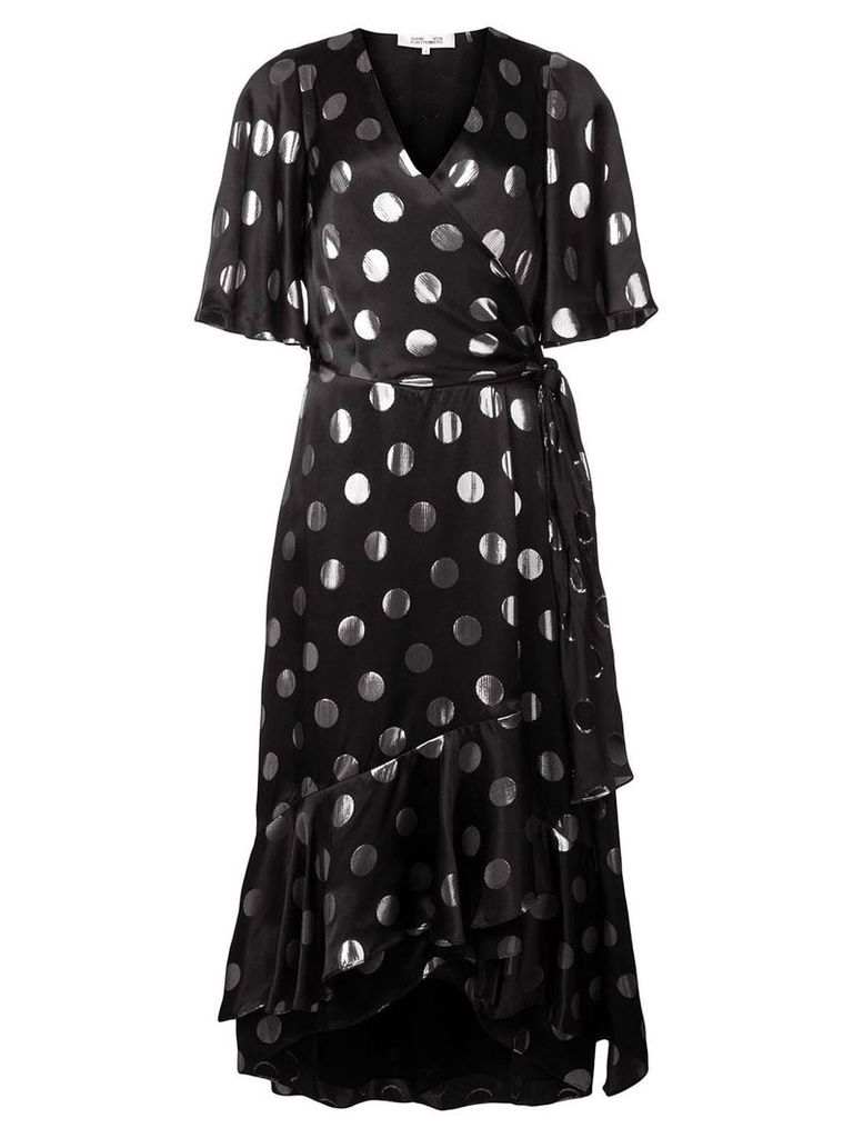 Dvf Diane Von Furstenberg polka-dot flared dress - Black