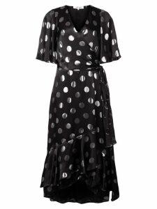 Diane von Furstenberg polka-dot flared dress - Black
