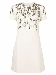Valentino sequin embroidery dress - Neutrals
