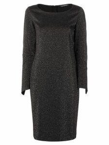 Luisa Cerano metallic glitter shift dress - Black
