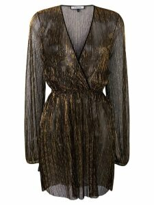 Fisico sheer metallic dress - Black