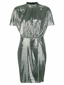 MSGM micro pleated sequin dress - Silver