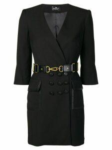Elisabetta Franchi belted wrap style dress - Black