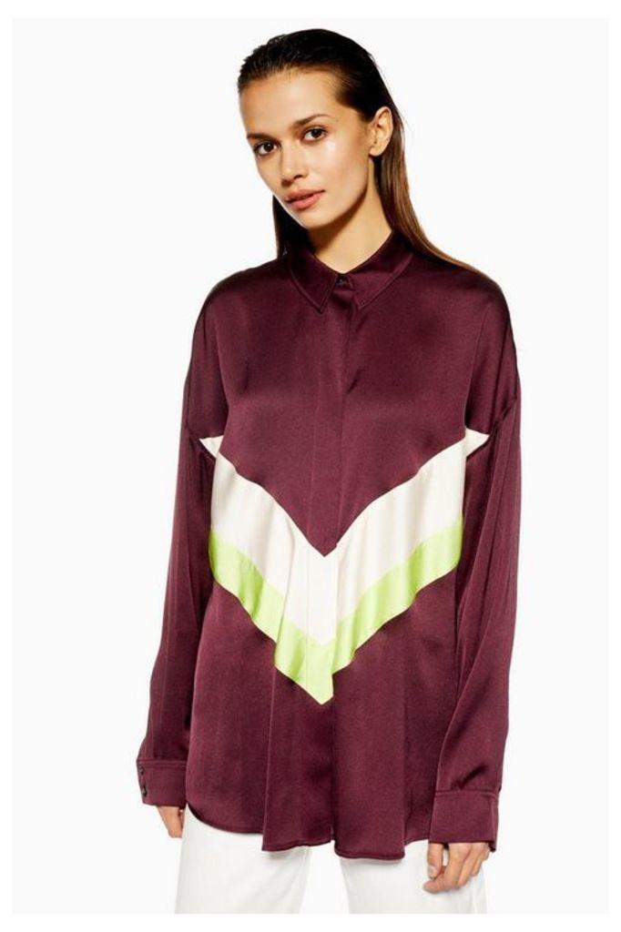 Womens **Chevron Colour Block Shirt By Boutique - Multi, Multi