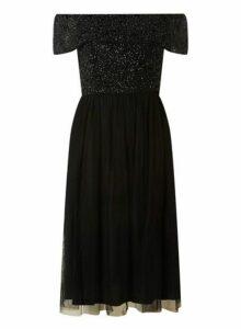 Womens **Showcase Black 'Camille' Prom Dress- Black, Black