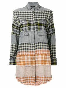 Diesel shirt dress with check-pattern - Grey