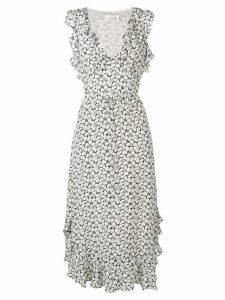 Zimmermann Ruffle midi dress - White