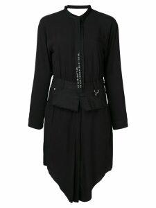 Diesel Chemisier dress with denim belt - Black