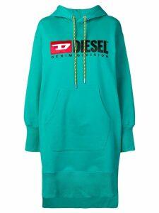 Diesel hooded logo dress - Green