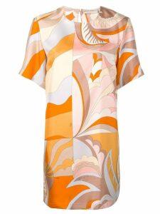 Emilio Pucci Acapulco Print Silk Dress - Orange
