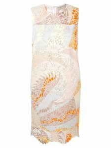 Emilio Pucci Sangallo Embroidered Acapulco Print Dress - Neutrals