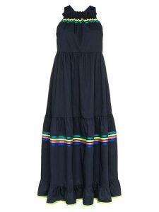 Mira Mikati stripe detail tiered maxi dress - Blue