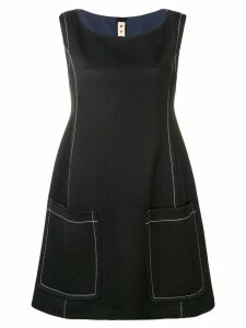 Marni contrast stitch dress - Black