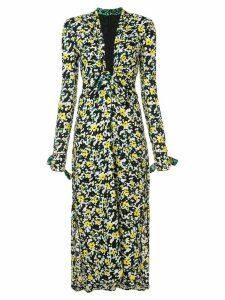 Proenza Schouler Wildflower V-Neck Dress - White Wildflower