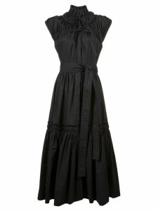 Proenza Schouler Gathered Tiered Dress - Black