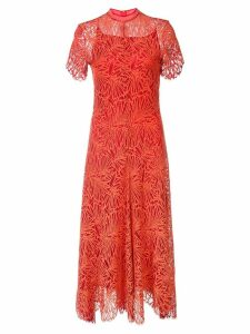 Proenza Schouler Lace Short Sleeve Dress - Tangerine