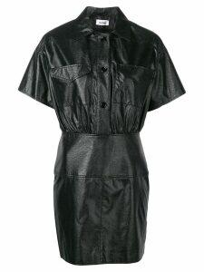 Courrèges textured shirt dress - Black