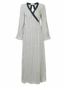 The Upside anchor print wrap dress - White
