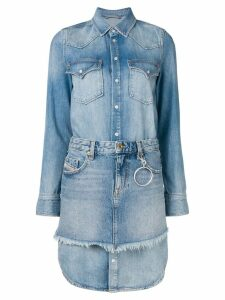 Diesel Chemisier dress with mini skirt - Blue