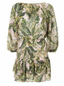 Suboo printed wrap dress - Green