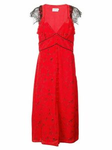 Tanya Taylor lace trim dress - Red