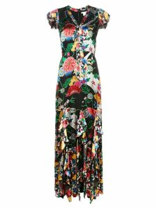 Alice+Olivia floral print maxi dress - Black