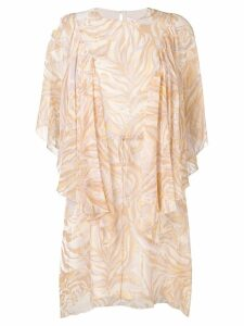 See By Chloé printed layered dress - Neutrals