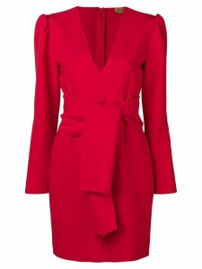 MSGM V-neck crepe dress - Red