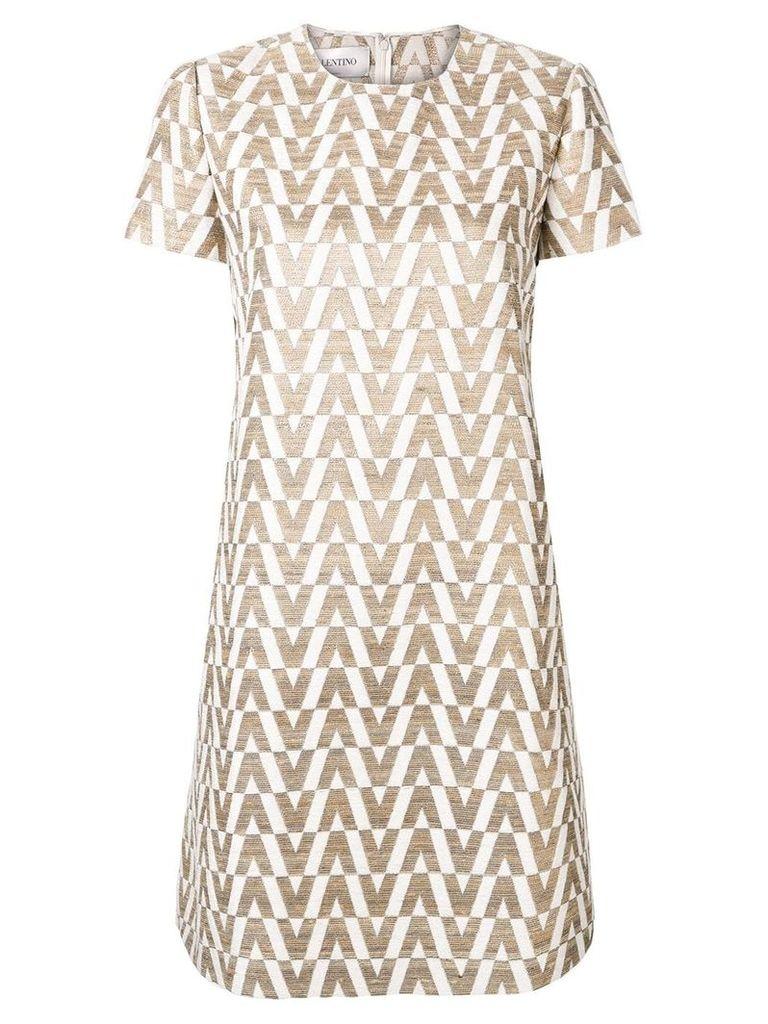 Valentino Optical shift dress - Neutrals