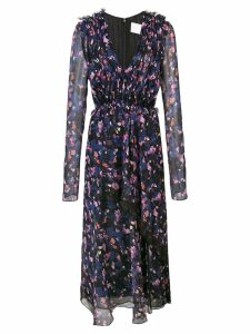 Jason Wu Collection gathered floral dress - Black