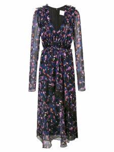 Jason Wu Collection gathered floral dress - Black
