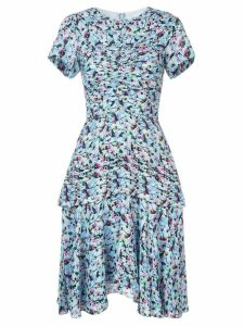 Jason Wu Collection gathered floral dress - Blue
