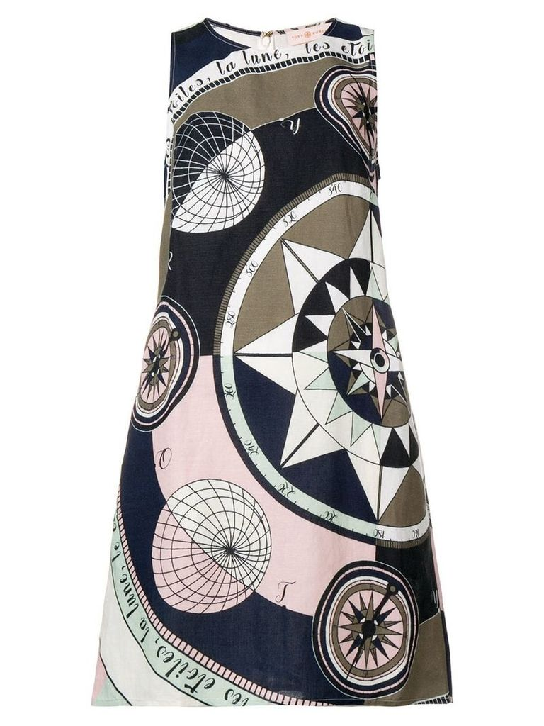 Tory Burch Cosmic print mini dress - Blue
