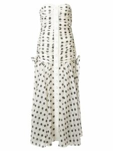 Zimmermann ruched off-shoulder dress - White