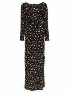 byTiMo maxi floral print dress - Black