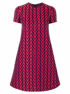 Valentino brocade mini dress - Red