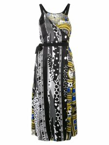 Versus printed wrap dress - Black